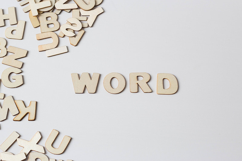 Wooden letters spell word